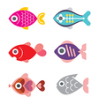 Fish icon set 1115 vector
