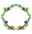 A border made of vine fruits vector