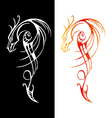 Chinese traditional dragon sword vector