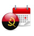 Icon of national day in angola vector