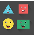 Flat smiling shapes vector