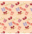 Background with colorful gift boxes seamless vector