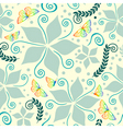 Nature pattern on vanilla background vector