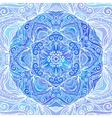 Blue ornate doodle circle background vector