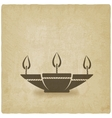 Oil lamp old background vector