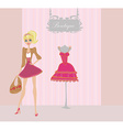 Elegant shopping woman vector