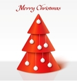 Red christmas tree with balls vector