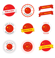 Set of made in china labels and ribbons vector