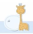 Baby boy shower card with cute giraffe vector
