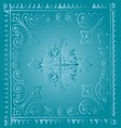Beautiful vintage light blue floral background vector