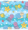 Pattern sea creatures vector