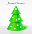 Green christmas tree with balls vector
