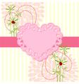 Springtime love card with flower vector