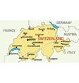 Map of switzerland vector