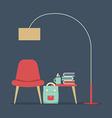 Modern design interior furniture vector