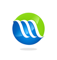 Abstract finance business swirl logo vector