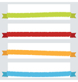 Torn ribbon banners vector