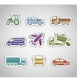 Flat retro color stickers - set four vector