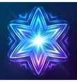 Abstract shining cosmic star vector