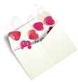 Envelope with hearts vector