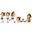Five adorable kids vector