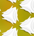 White banana shapes on white and mesh seamless vector