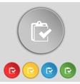 Edit document sign icon set colour button modern vector