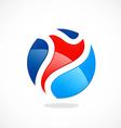 Sport man abstract color logo vector