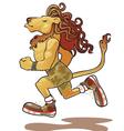 Lion-athlete vector