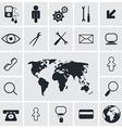 Flat design square icons set vector