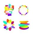 Abstract color element idea vector