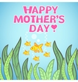 Greeting card design with fish for mothers day vector