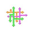 Net of the arrows and many arrows - many ways vector