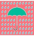 Retro umbrella and drops vector