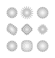 White abstract circles with drop shadow background vector