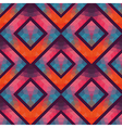 Retro seamless pattern with squares hand drawn vector