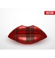 Beautiful luscious lips vintage texture vector