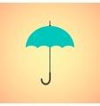 Umbrella icon on orange background vector