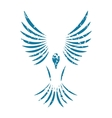Bird grunge icon vector