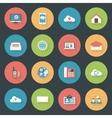 Communication icons set flat design vector