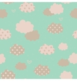 Seamless pattern with clouds vector