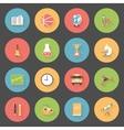School flat icons set vector