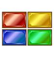Colored metallic plaques vector