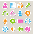 Music icon set eps10 vector