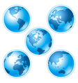 Set of five globes vector