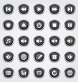 Media button black vector