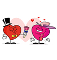 Valentine hearts cartoon vector