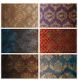 Set of abstract seamless vintage background vector