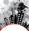 Abstract urban design with black ink splash vector