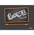 Blackboard love valentines day background vector